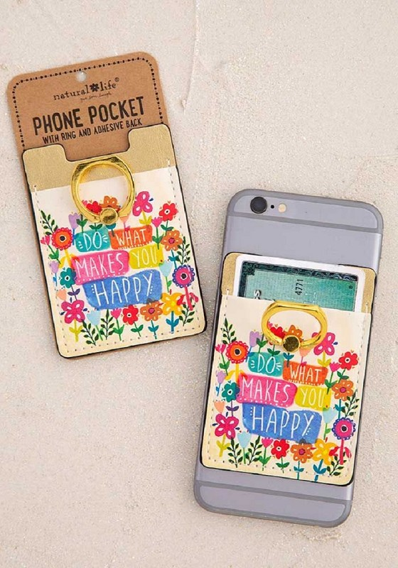 Do What Makes You Happy Phone Pocket,pkt037