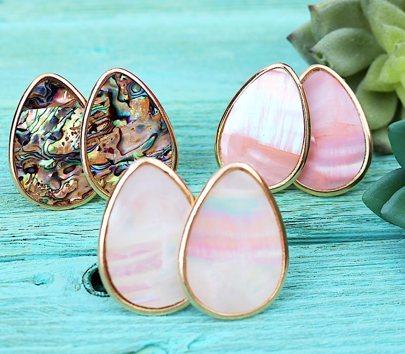 Tandy Clip-On Earrings,TANDYCLIP-ABALONE
