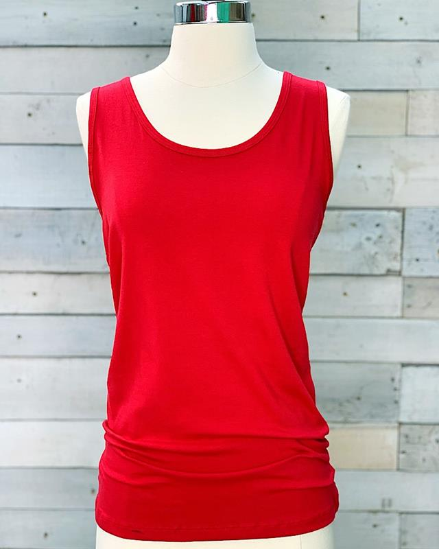 Rory Racerback Tank,CT-2910-DKRED-S