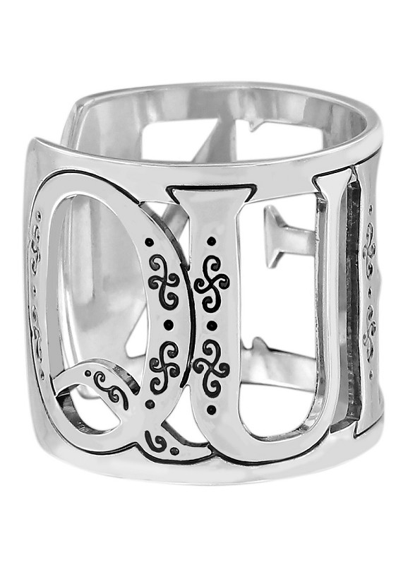 Christo Queen Wide Ring,J62750