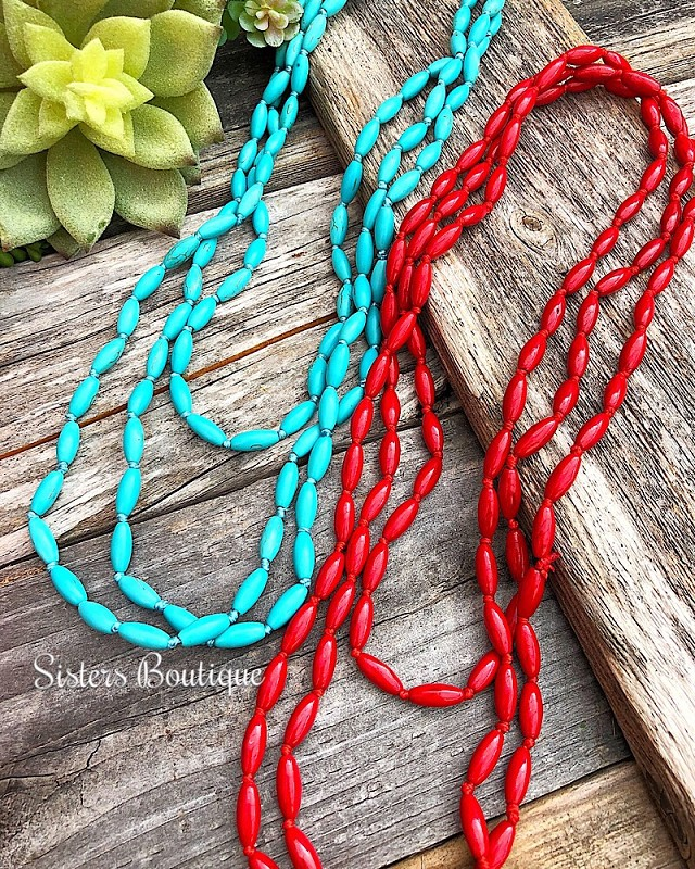 Mae Layering Necklace,MAE-NECK-RED