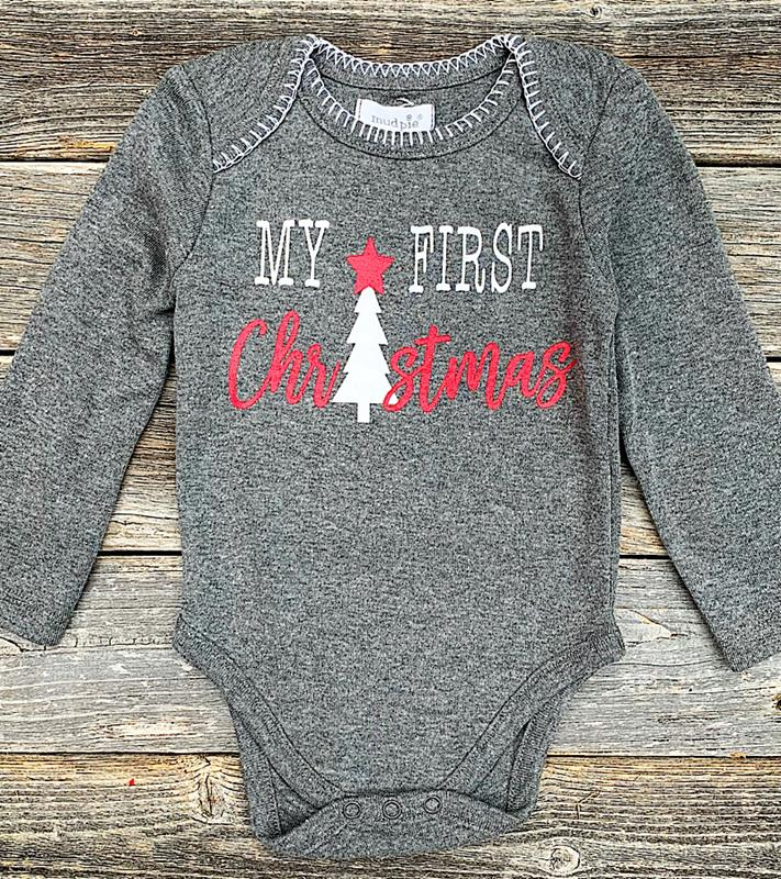 My First Christmas Onesie,11030050-0/6M