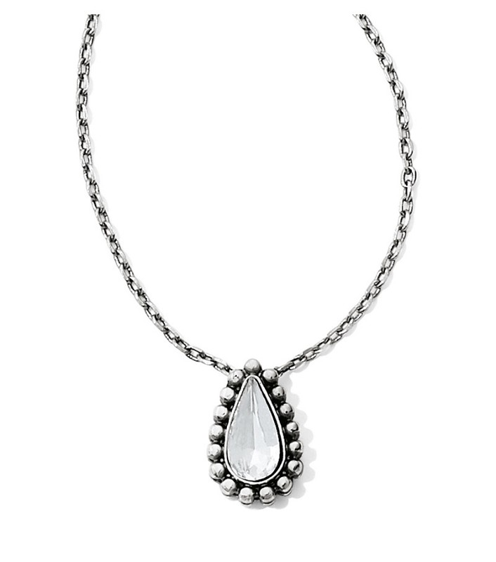 Twinkle Teardrop Reversible Necklace,JM0991