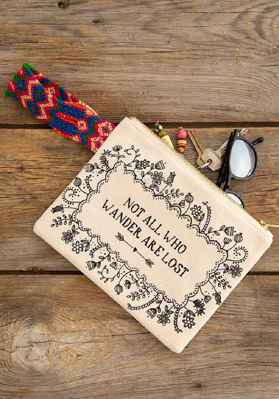Not All Who Wander Wristlet,WLT149