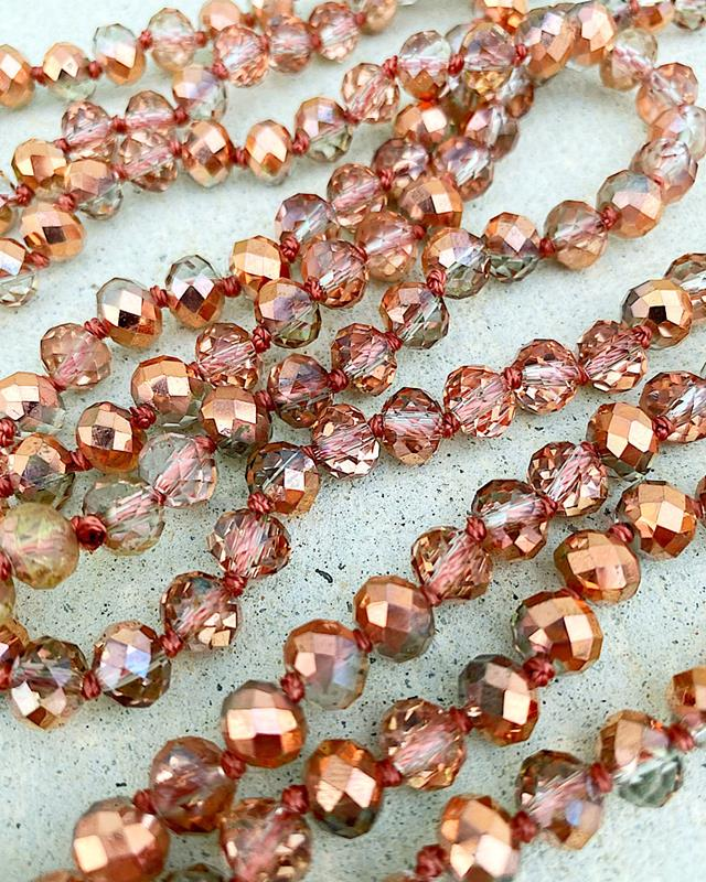 "Rose Gold Brea 60"" Beads,BREA-ROSEGOLD"