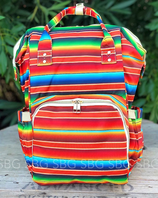 Autumn Serape Backpack Diaper Bag,DP-AUTUMNSERAPE