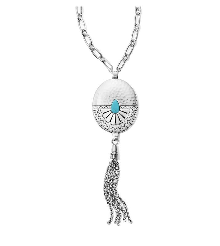Marrakesh Mesa Long Tassel Necklace,JM1333