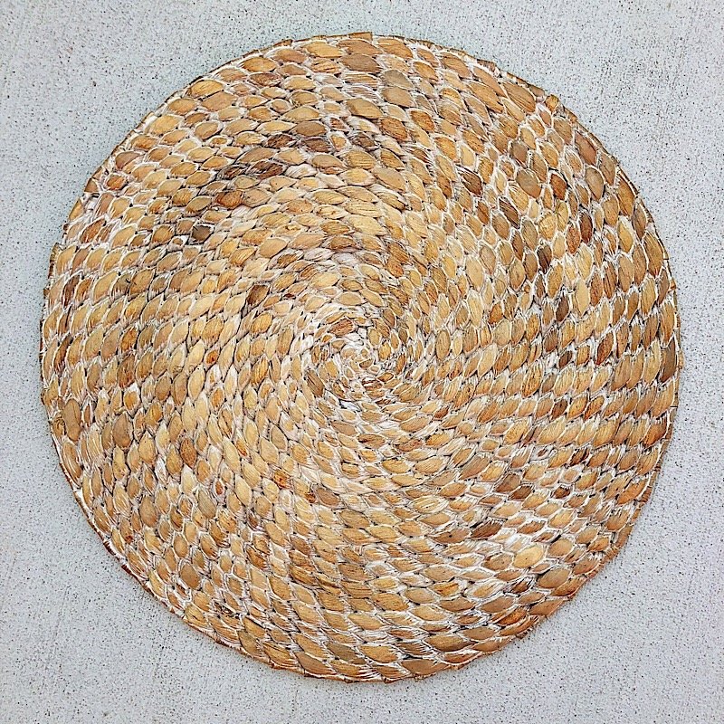 Braided Hyacinth Round Placemat,1276-001W