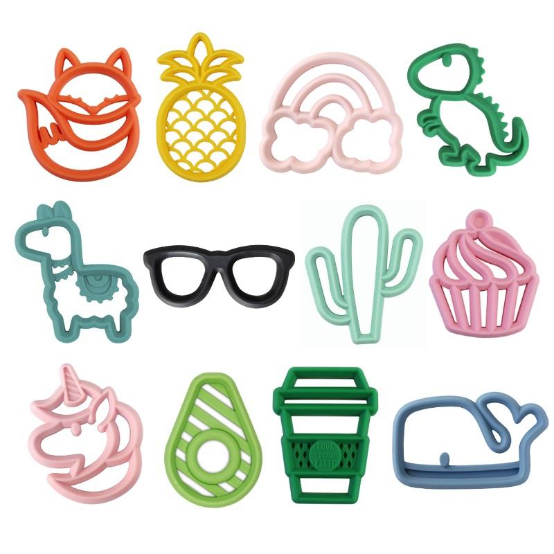 Chew Crew Silicone Teether,CHEWCREW-PINEAPPLE
