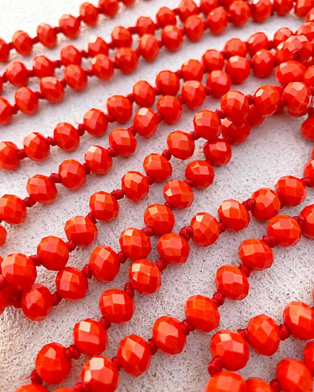 "Dark Orange Brea 60"" Beads,BREA-DKORANGE"