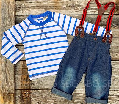 Norman Suspender Outfit,NORMANOUTFIT-12/18M