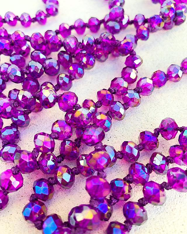 "Clear Purple AB Brea 60"" Beads,BREA-CLRPURPLEAB"
