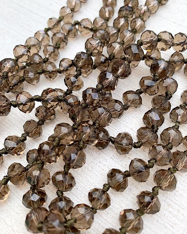 """Clear Umber Brea 60"""" Beads,BREA-CLRUMBER"""
