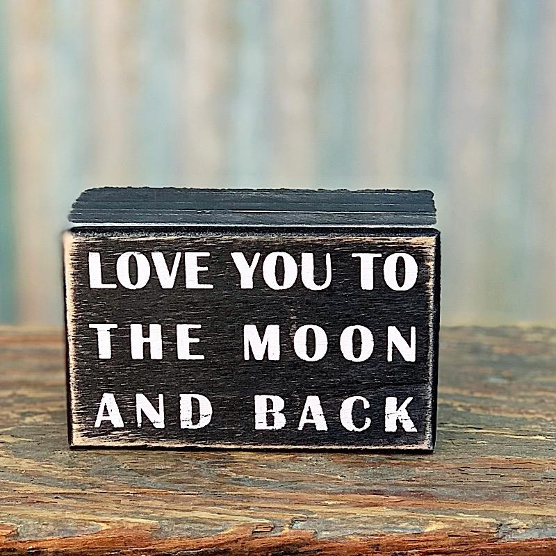 The Moon And Back Box Sign,16339
