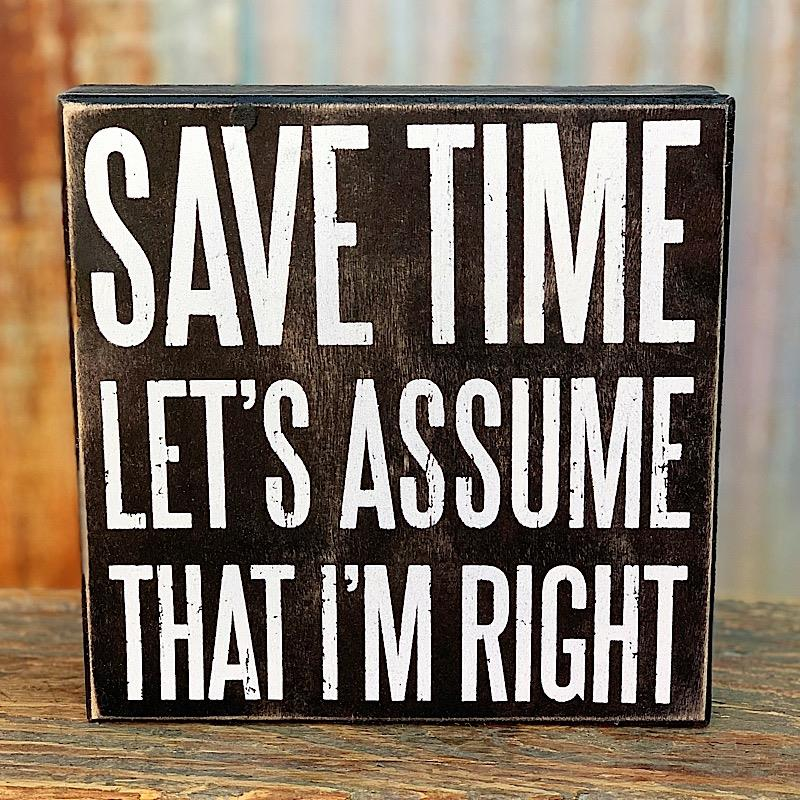 Save Time Box Sign,23573