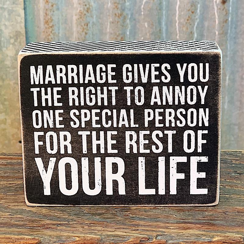 Marriage Box Sign,27346