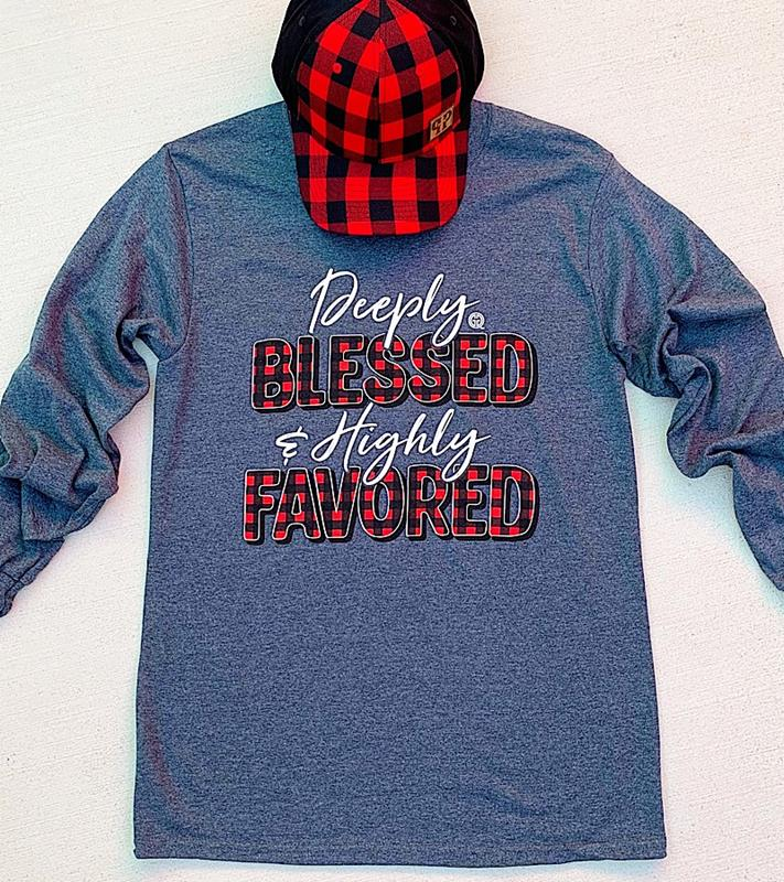 Deeply Blessed Longsleeve T-Shirt,DEEPLYBLESS-SMALL