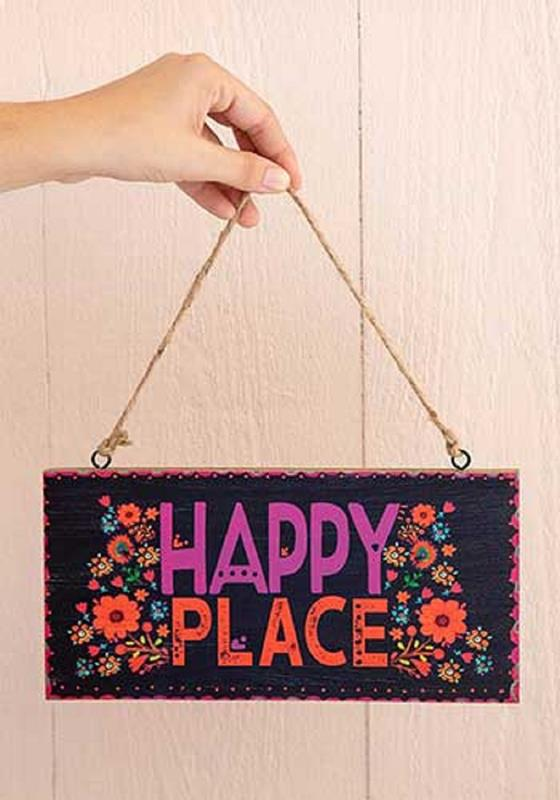 Happy Place Wooden Hanging Sign,SIGN002