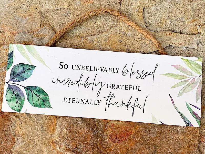 Blessed Grateful Thankful Hang Sign,HPS0111