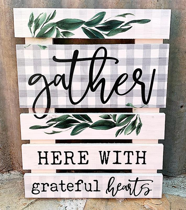 Gather Small Pallet Sign,SKD0032