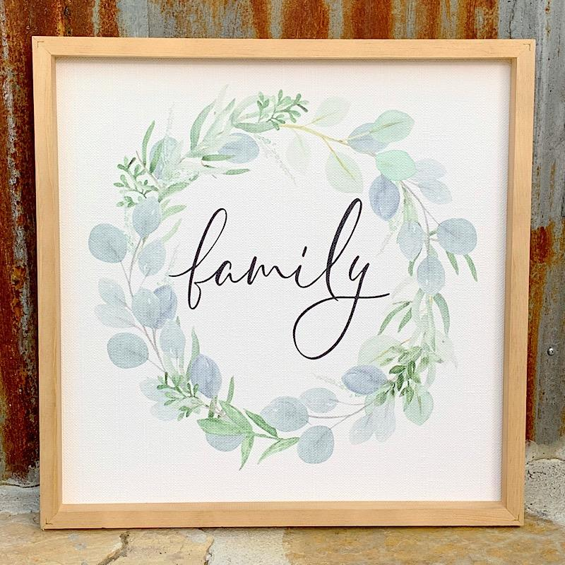 Family Wreath Sign,WPL0021