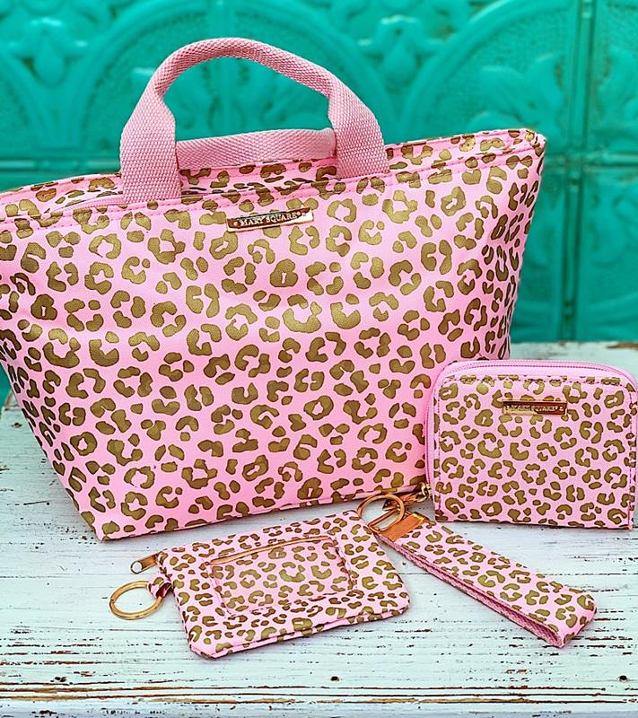 Pink Leopard Accessory Collection,PKLEO-CARDWALLET