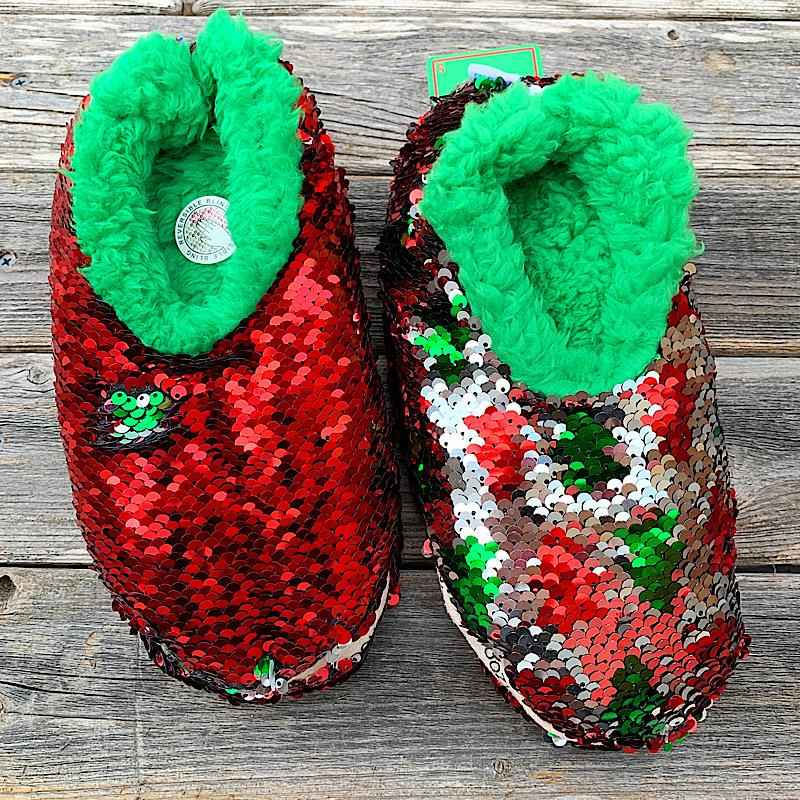 Christmas Tree Reversible Sequin Snoozies,CHREVSEQ-TREE-5/6