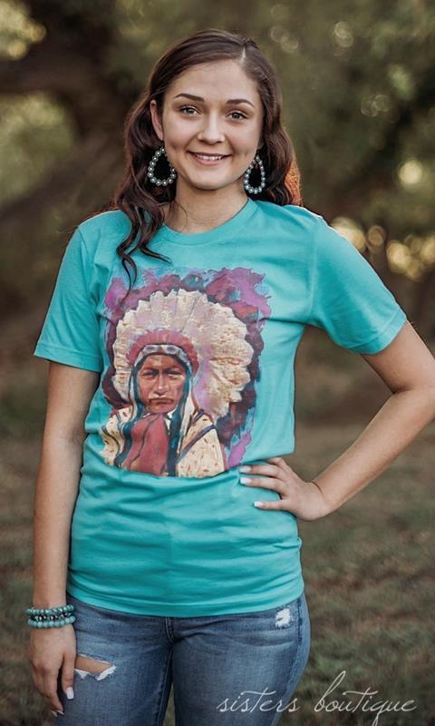 Colorful Indian Tee,COLORFULINDIAN-SMALL