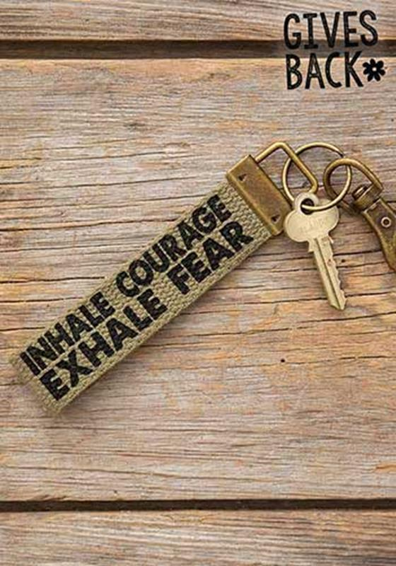 Inhale Courage Canvas Key Fob,FKCL003