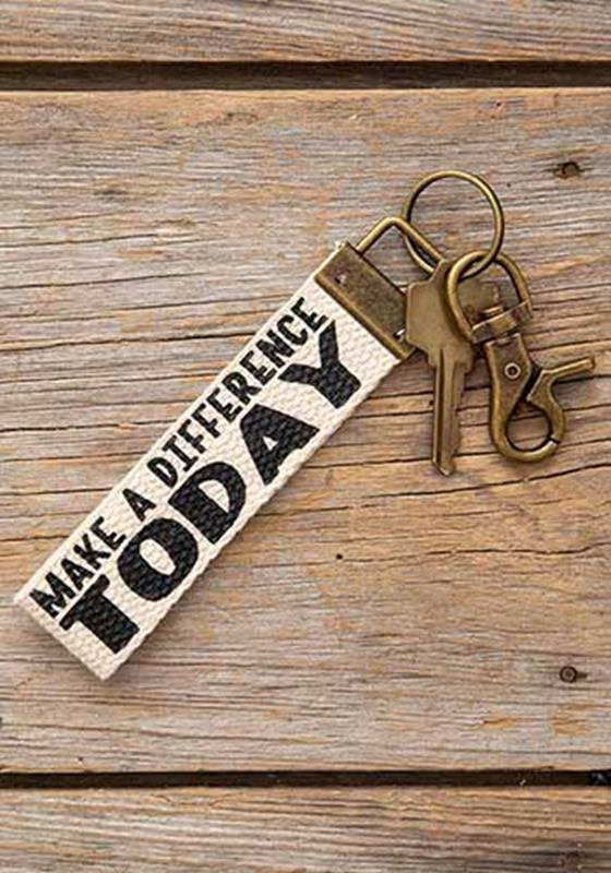 Today Canvas Key Fob,KCL114