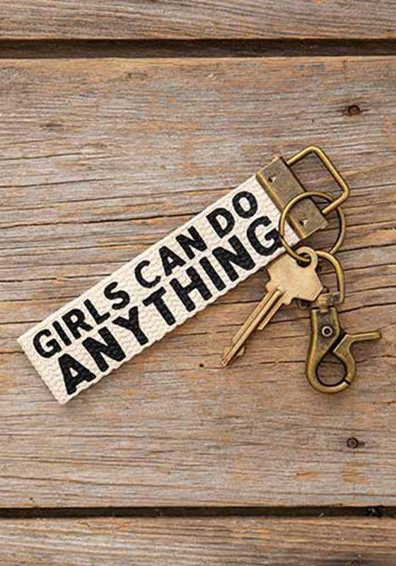 Girls Can Do Anything Canvas Key Fob,KCL112