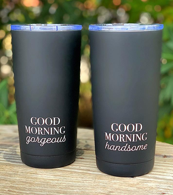 Black Coated Coffee Tumbler,ER51006-HANDSOME