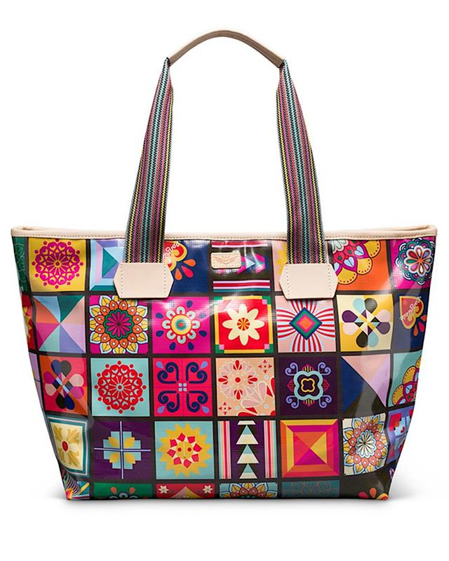 Allie Zipper Tote,6359