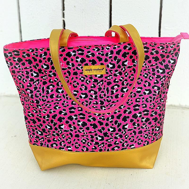 Pinky Leopard Tote Bag,LEOPINK-TOTE