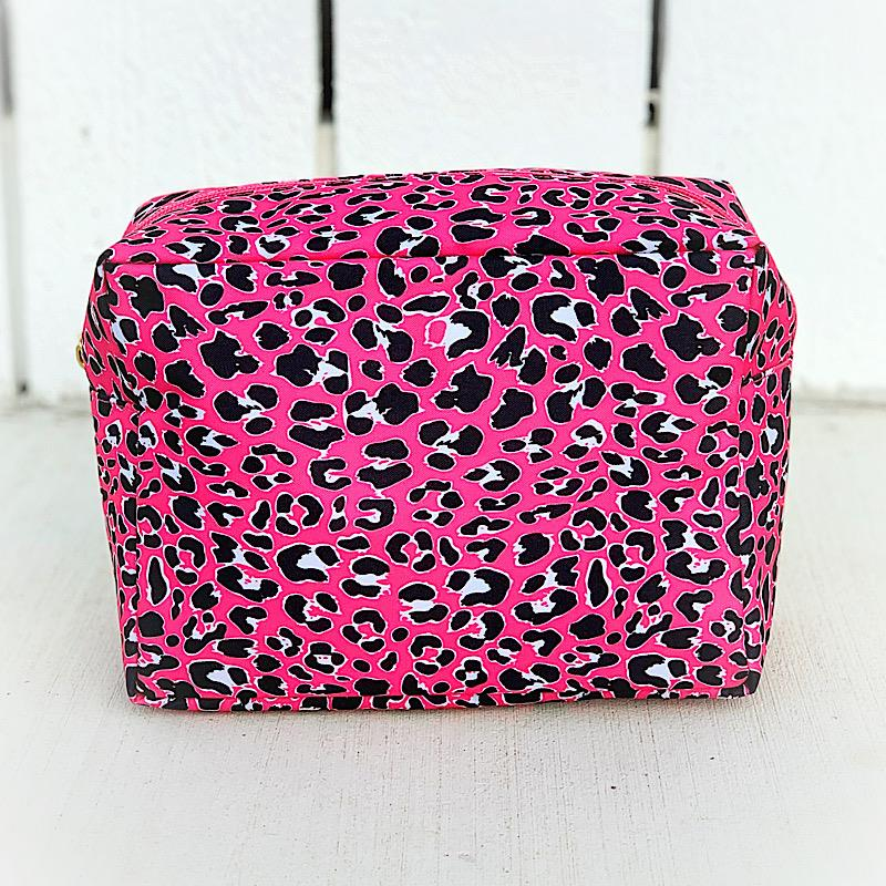 Pinky Leopard Cosmetic Bag,LEOPINK-COSMO