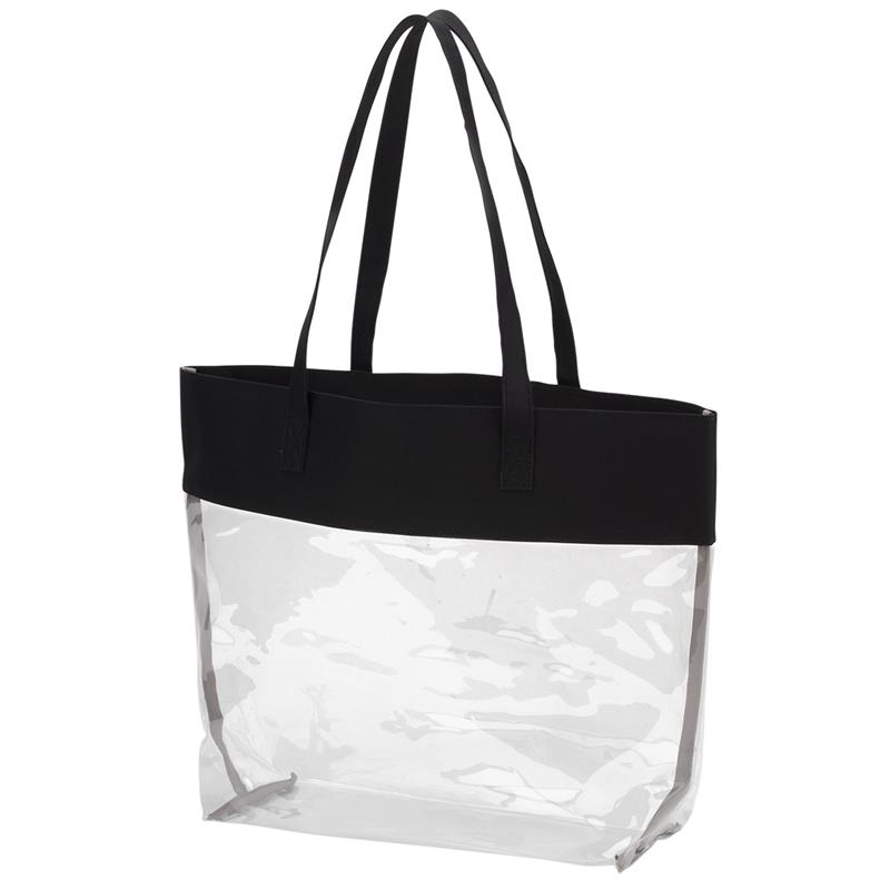 Black Clear Tote,BLKCLEARTOTE