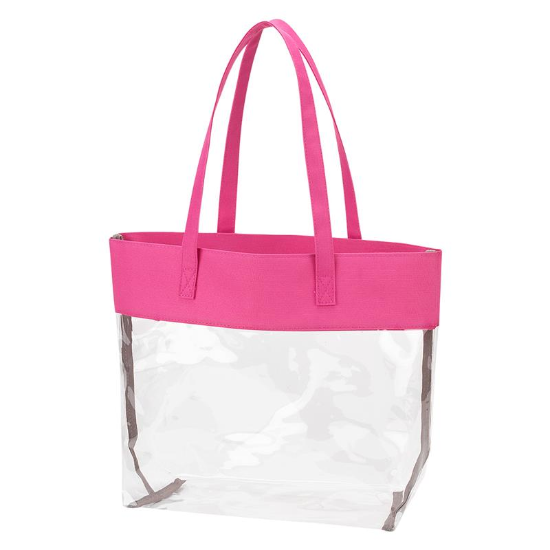 Pink Clear Tote,PKCLEARTOTE