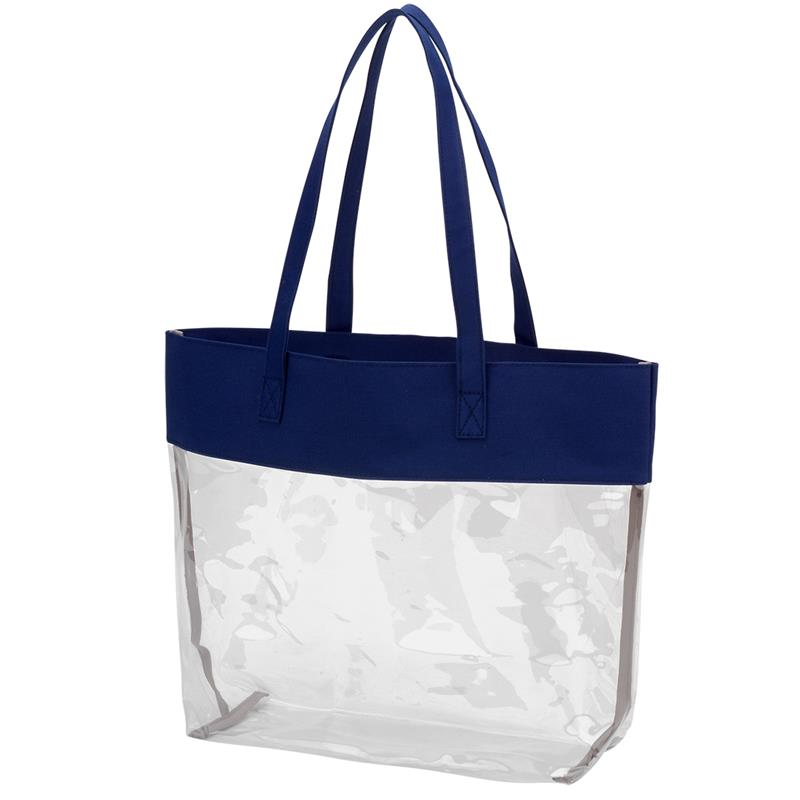 Navy Clear Tote,NYCLEARTOTE