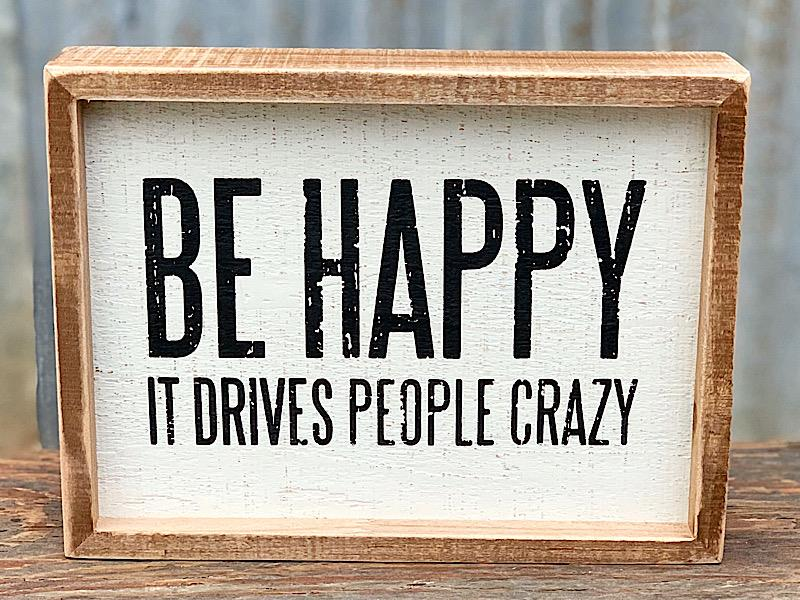 Be Happy Inset Sign,105704