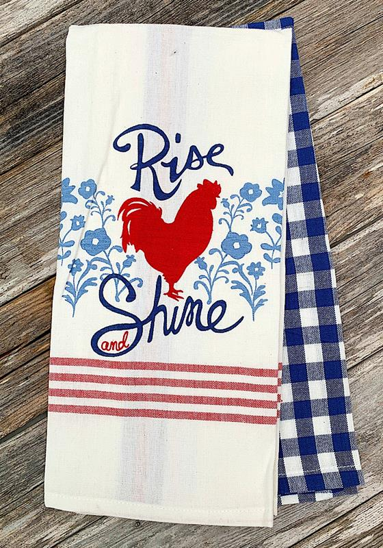 Rooster Rise & Shine Dish Towel Set,29456