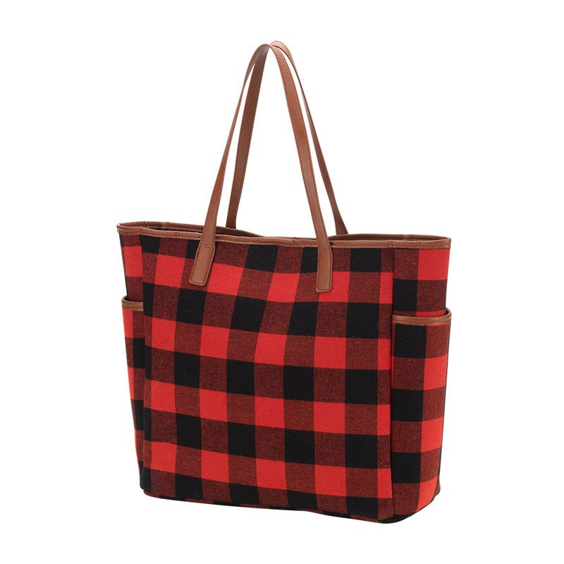 Hayden Red Buffalo Tote,HAYLEOTOTE-RED