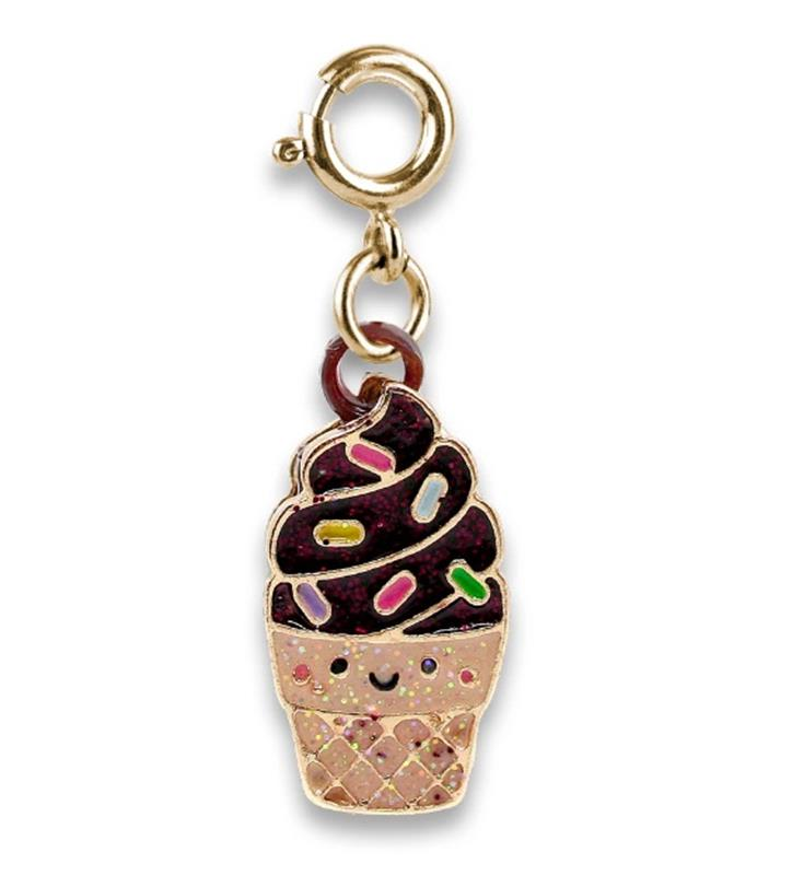 Scented Chocolate Soft Serve Charm,SOFTSERVECHARM