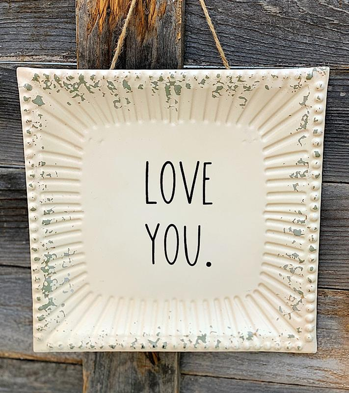 Love You Metal Tray Sign,MT3097