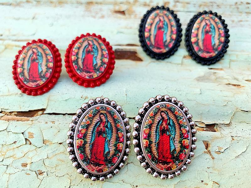 Our Lady Studs,OURLADYSTUDS-RED