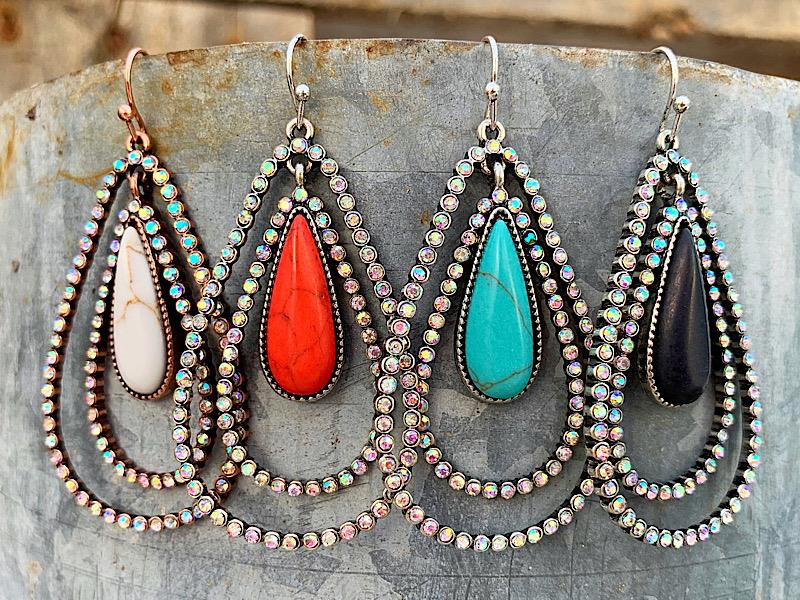 Carter Earrings,CARTER-ER-BLACK