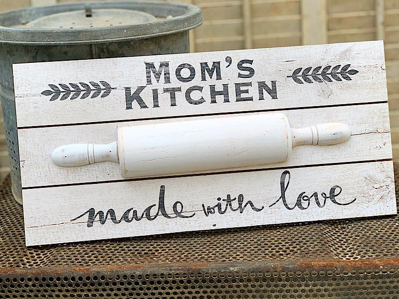 Mom's Kitchen Rolling Pin Sign,ER65591
