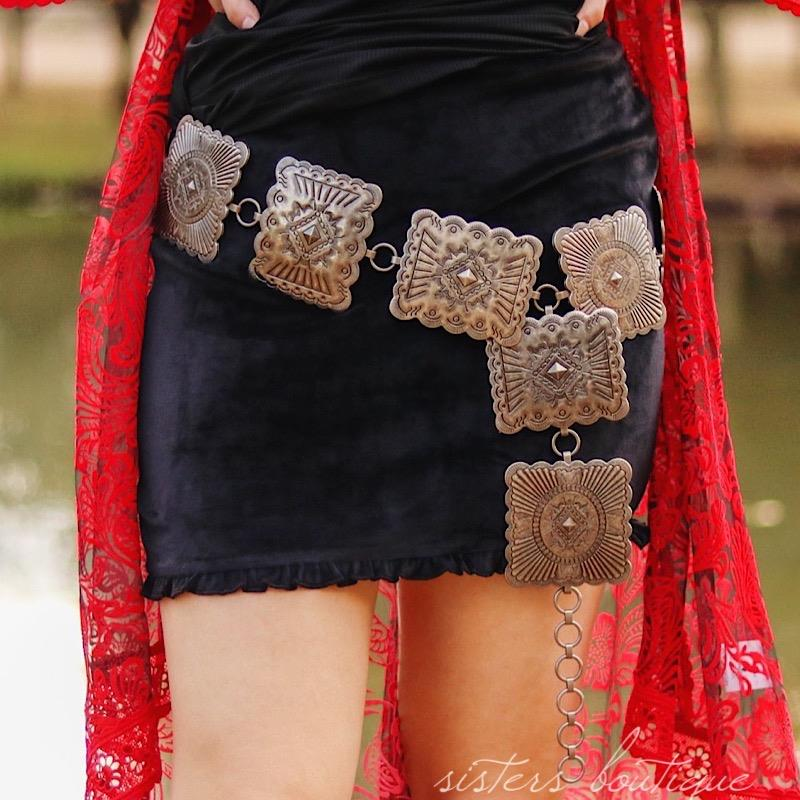 Vintage Concho Belt,BE104-SMALL