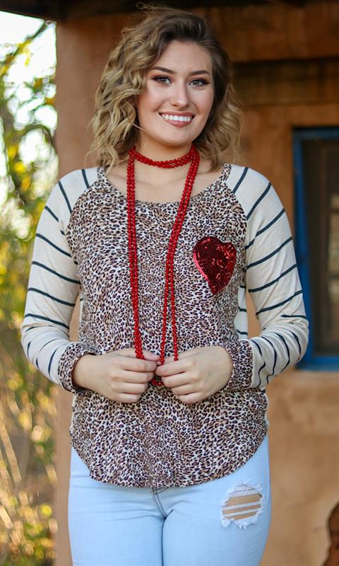 Heart Of Mine Top,T3091-SMALL