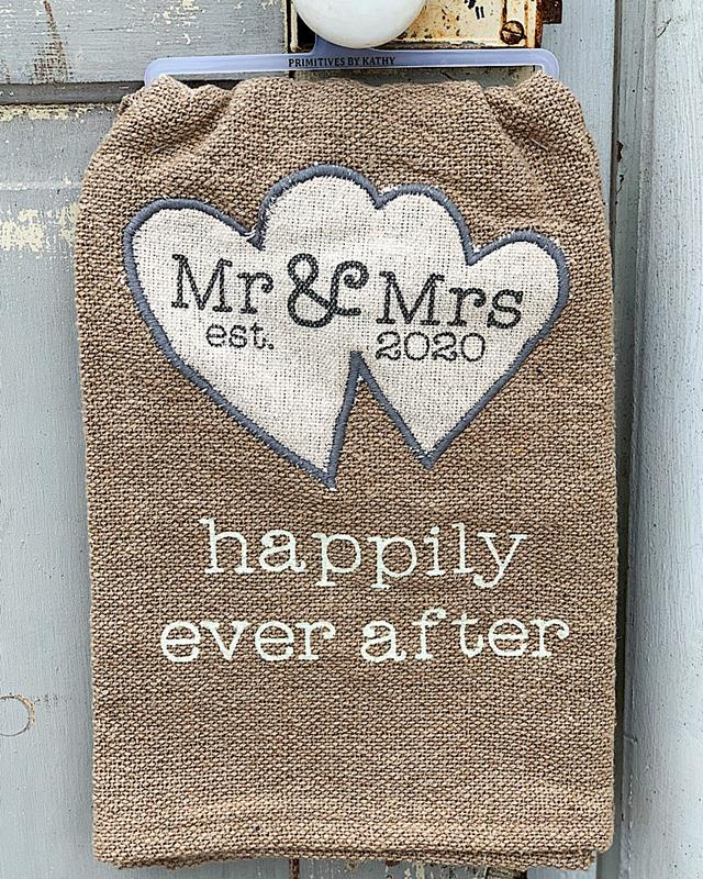 Mr & Mrs 2020 Happily Ever After Towel,105915