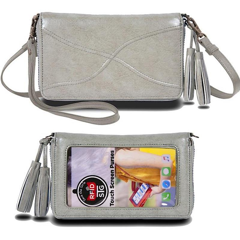 Encounter Vintage Grey Crossbody Clutch,ENCOUNT-VINTAGEGREY